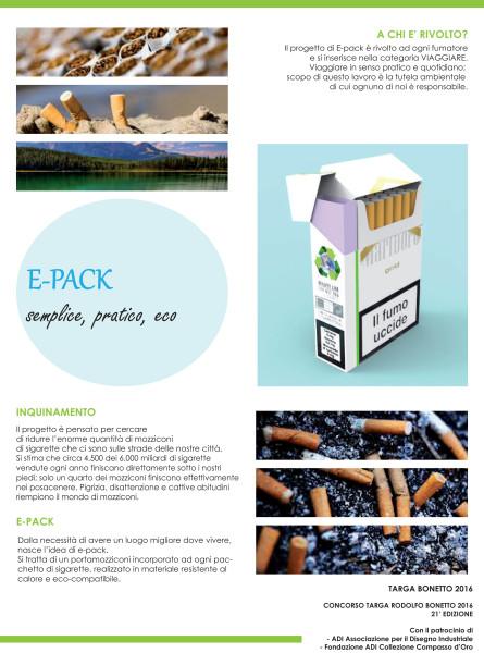 Progetto E-PACK; portacenere, Gabriele Vezzoli.