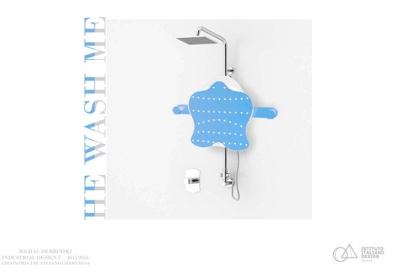 "Progetto HE WASH ME, strumento ""lavaschiena"", Michal Dembinski."